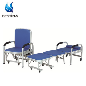China BT-CN001 Hospital cheap foldable accompany chair, foam folding chair bed price
