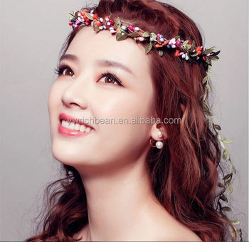 Beach Hair Band With Flowers Floral Flower Crown Girl Head Garlands