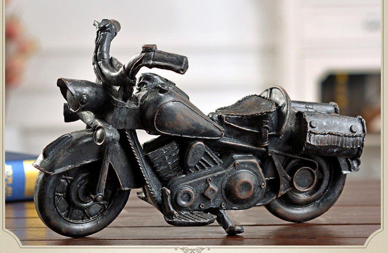 Resin Handicraft Retro Old Tin Vintage Car Model Antique Motorcycle Model Iron Bar Home Furnishing Decorative Ornaments