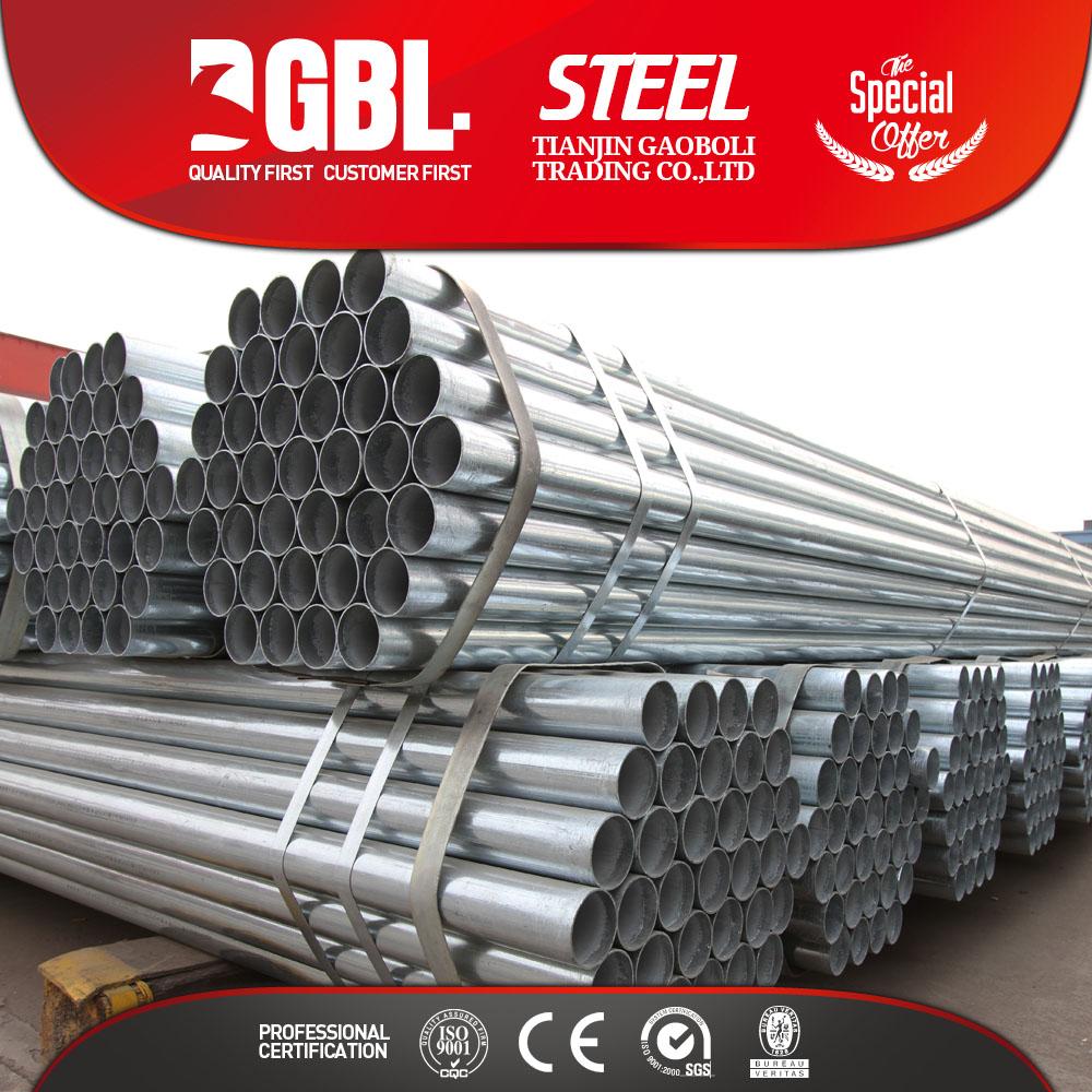 48 mm redondo secci n hueca tubo de acero galvanizado tubo - Tubo redondo acero ...