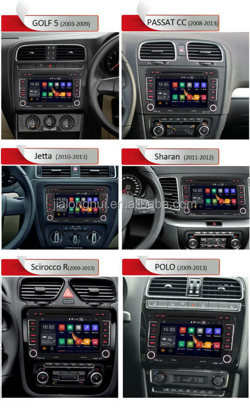 2 din car dvd player for volkswagen android 4.4.4 os radio+wifi/3g+