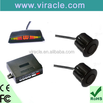 Led Auto Car Reverse Radar System 2 Black Eyes Parking Sensor ...