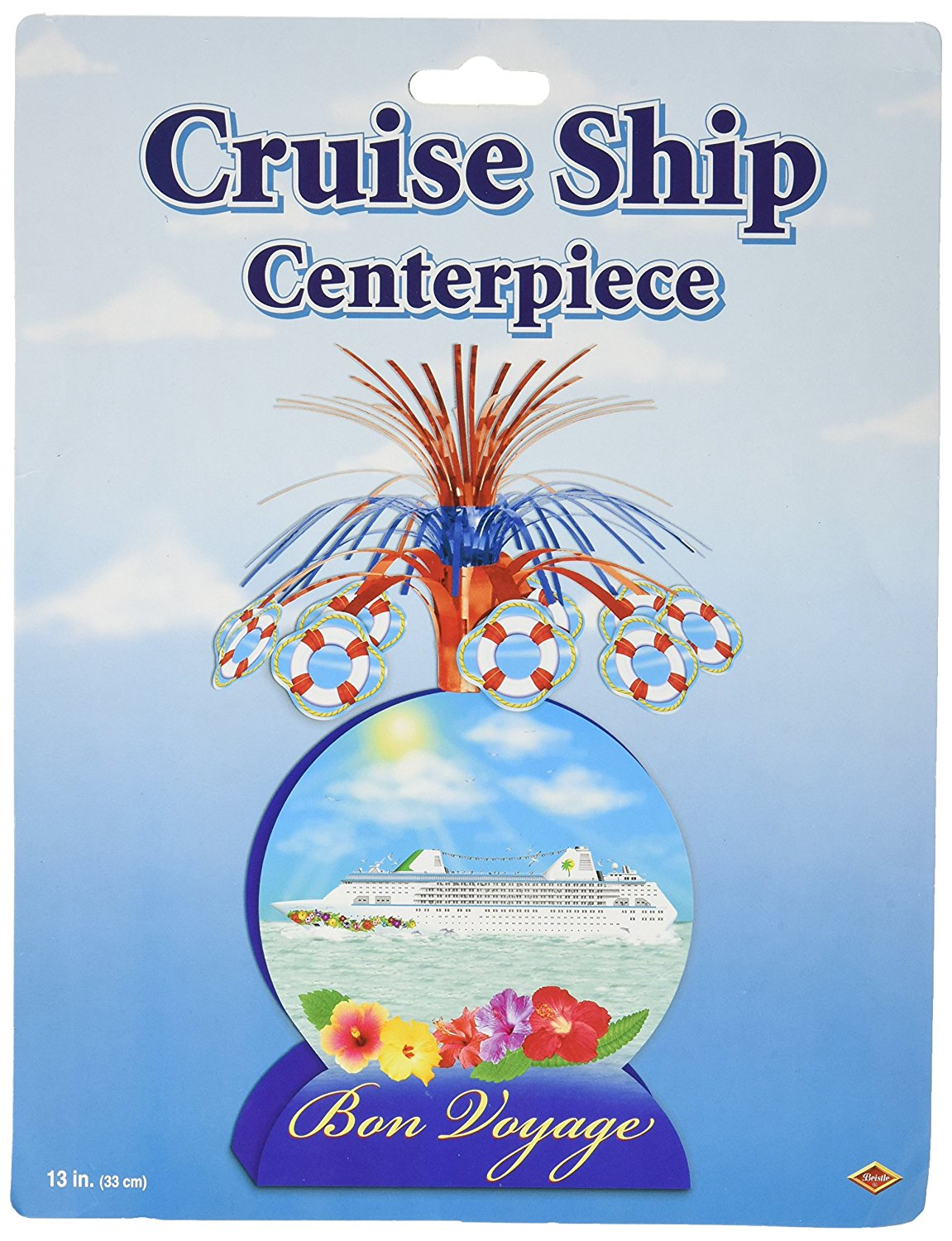 Cruise Ship Centerpiece Party Accessory (1 count) (1/Pkg)