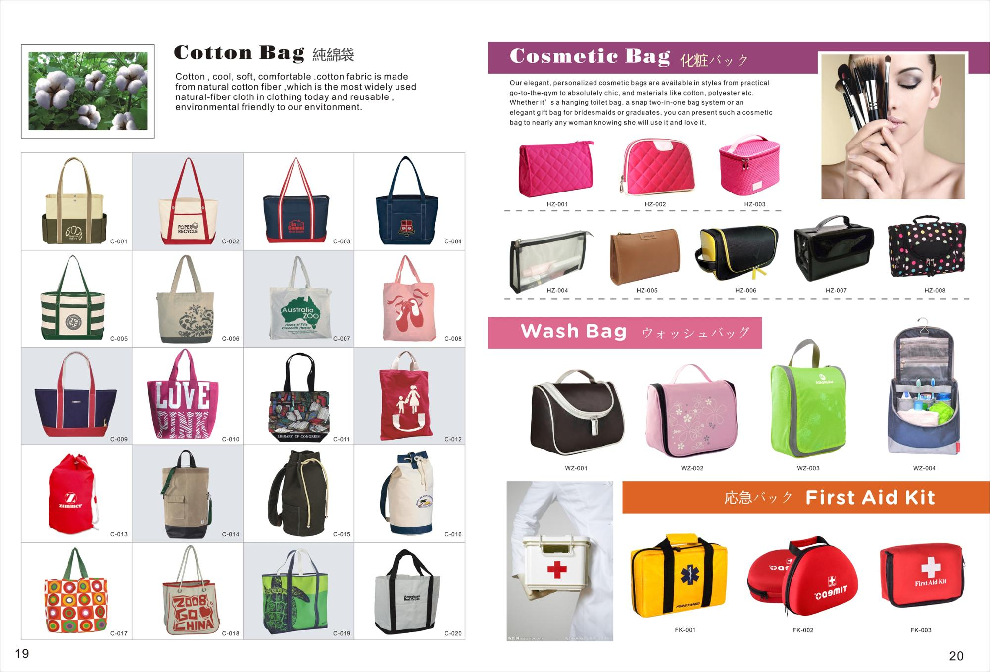 High Quality PU handle canvas tote calico organic cotton bag