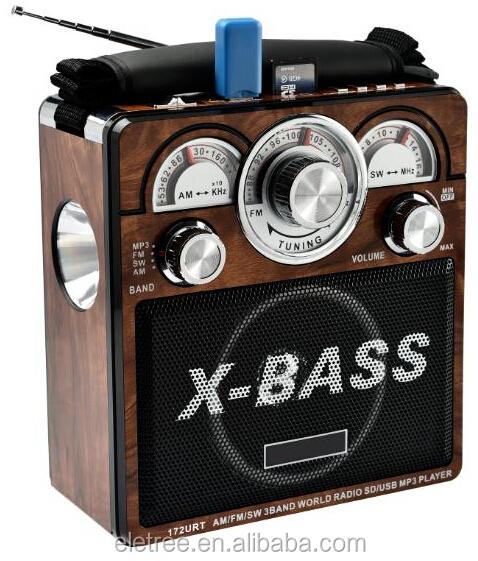 Portable World Radio X-bass Fm/am/sm 3 Band With Usb Sd Mp3 Player ...