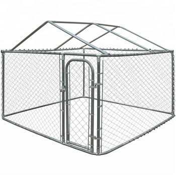 10ft * 10ft * 6 ft Galvanized Outdoor Dog Run