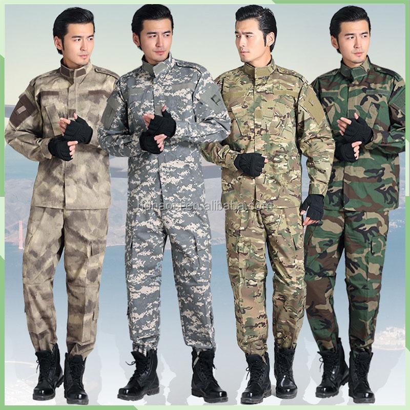 Uniformes de combate del ejército al aire libre ropa militar usa barato uniforme de Camuflaje militar