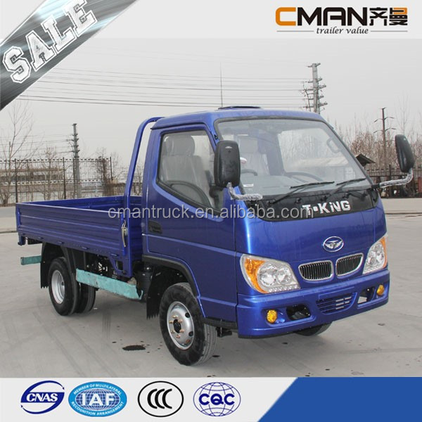China strong quality T-King brand 4x2 light diesel mini truck capacity 1 ton hot sale