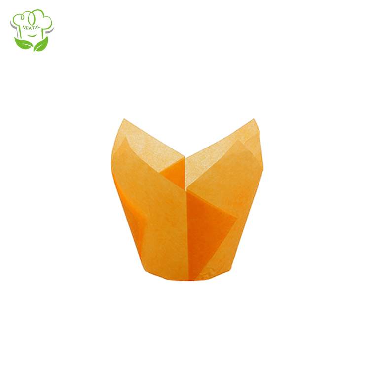Wholesale Beautiful Paper Muffin Cups Greaseproof Tulip Baking Cups