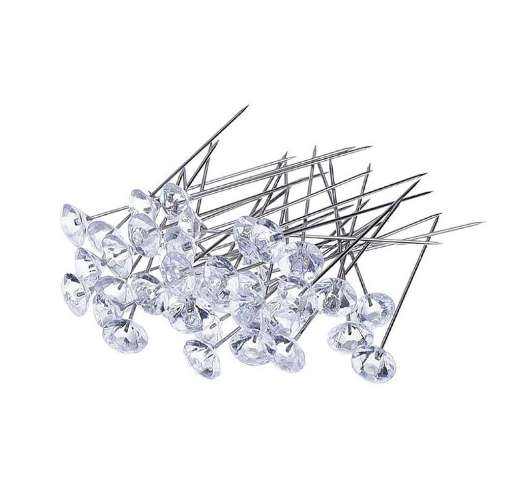 Iuhan New 100Pcs Crystal Diamante Corsage Pins