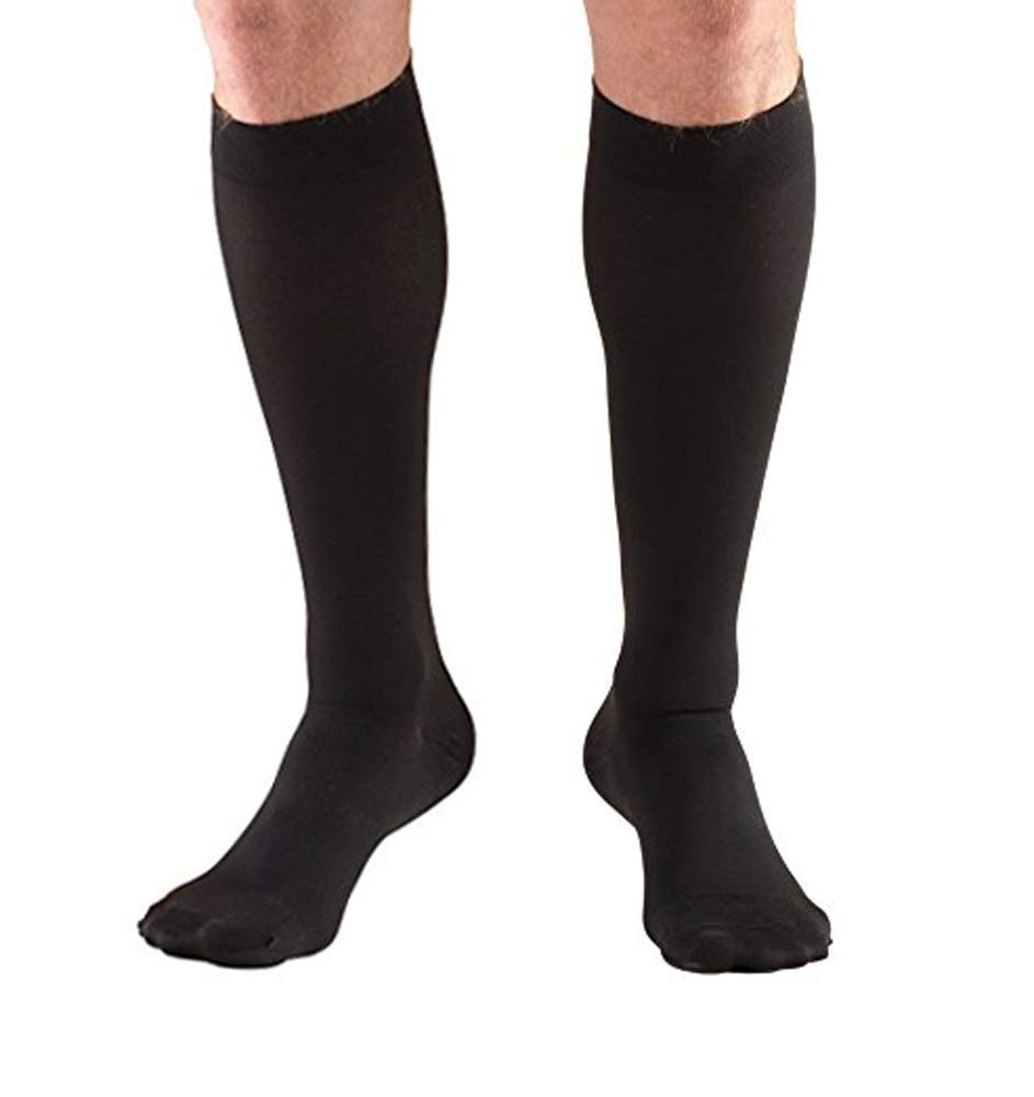 3a2d5efe48f Get Quotations · Tektrum (1 Pair) Knee High Firm Graduated Compression  Socks Stockings 23-32mmHg for
