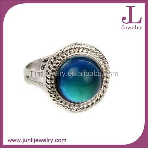 ac4e892de6d46 Caliente moda 316L de acero inoxidable anillo de joyería de piedras  preciosas de Color anillo de