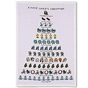Holiday Flour Sack Kitchen Tea Towel A Movie Lovers Christmas 12 Days by Peking Handicraft