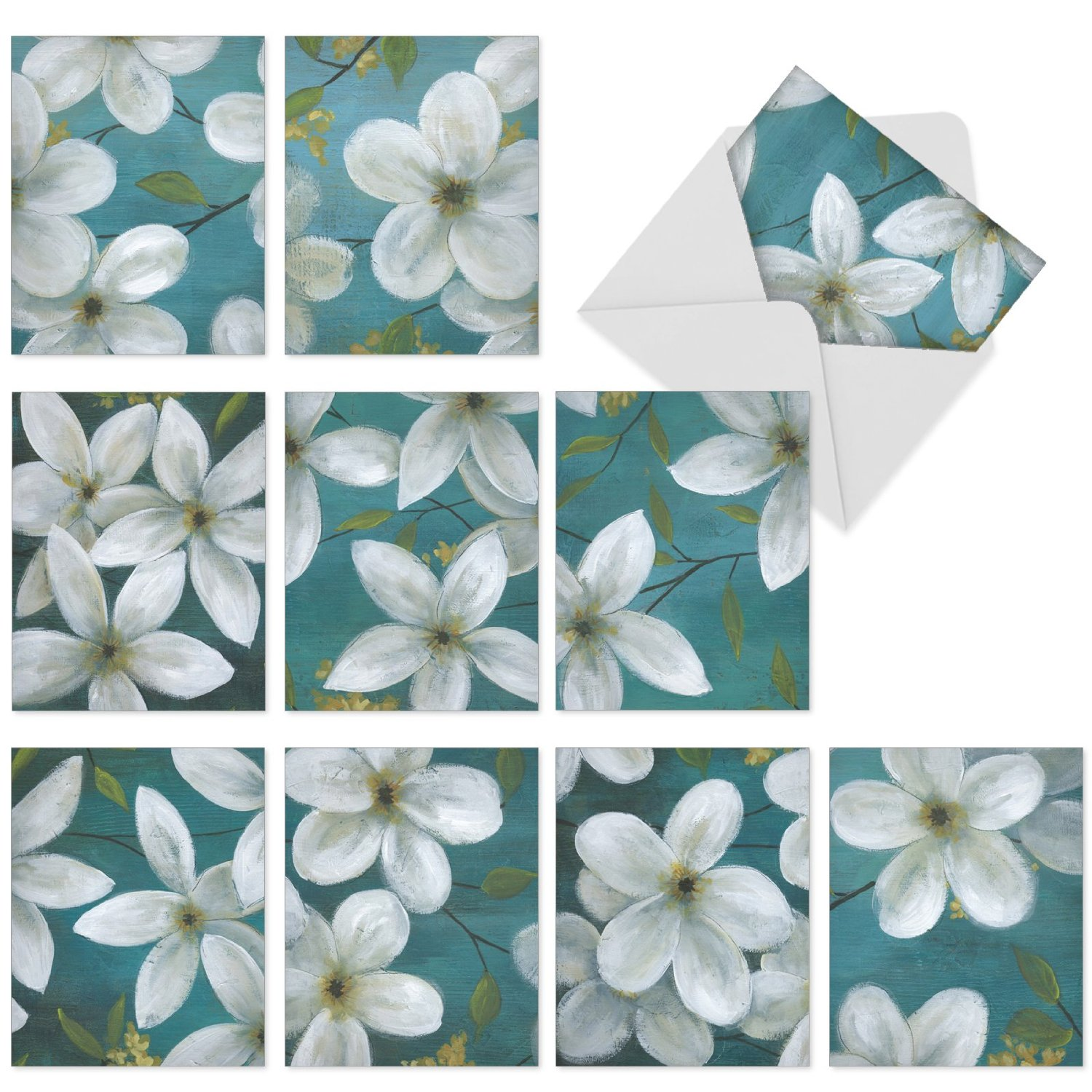 Cheap jasmine blue flowers find jasmine blue flowers deals on line m6020 all that jasmine 10 assorted blank all occasion note cards with snowy white izmirmasajfo