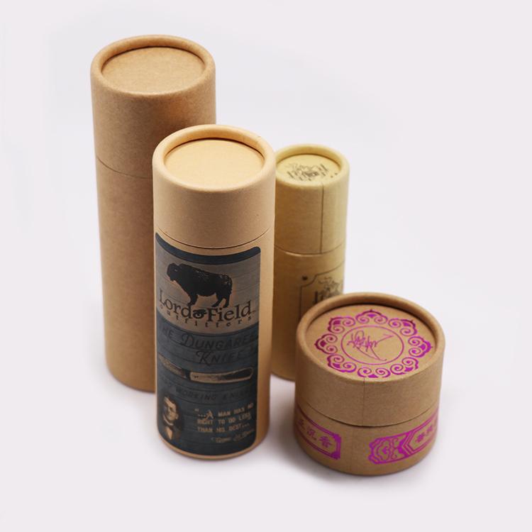 Kustom Dicetak Karton Tabung Bulat Kotak Lilin Silinder Lilin Kertas Kemasan Tabung Dicetak