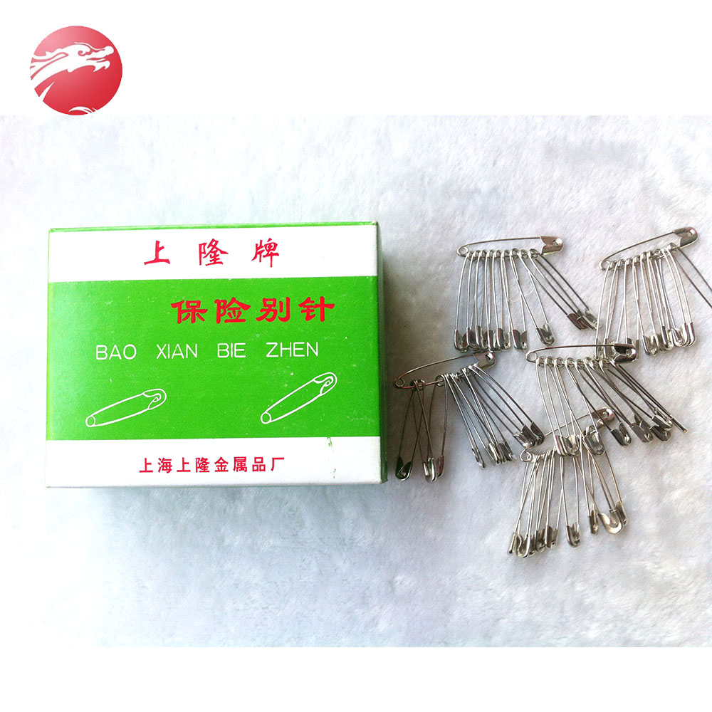 High Quality Wholesale standard metal steel silver safety pin