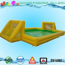 0.9mm PVC outdoor inflatable soccer field,inflatable soap football field for adults,inflatable human foosball sports games