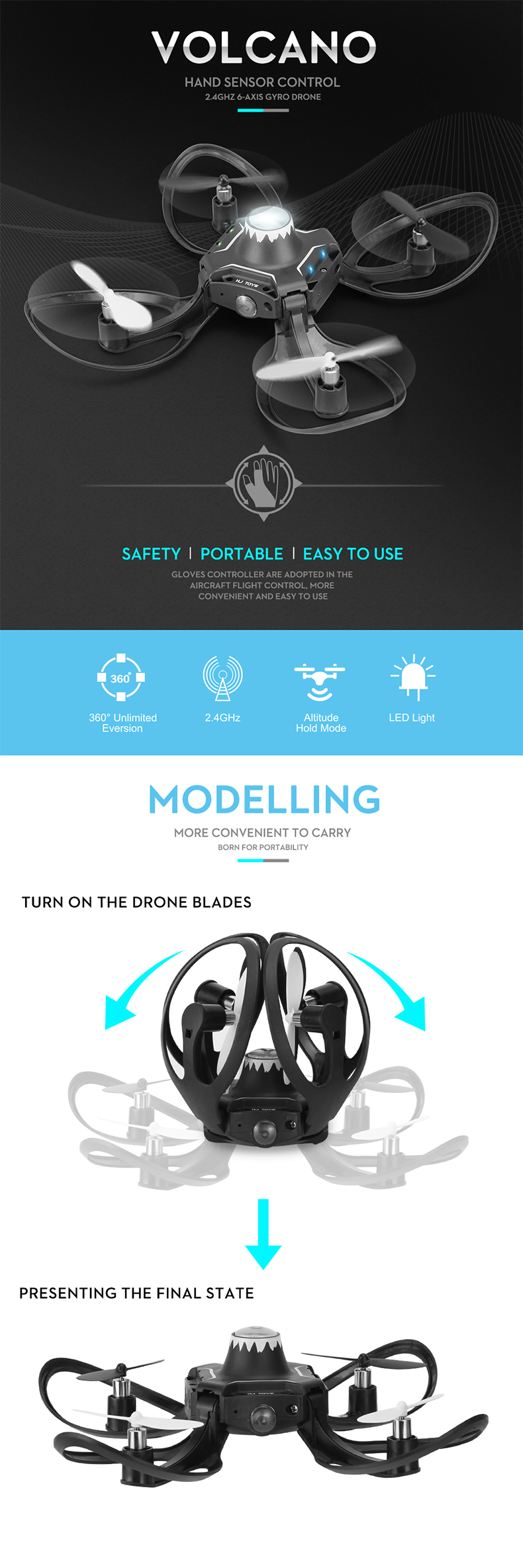 TongLi toy professional GESTURE drone portable mini rc quadcopter remote control drone with LED light six-axis altitude hold