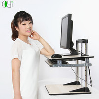 Portable folding laptop computer table desktop for computer stand