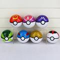 1Pcs 7Styles Big Size 10cm Anime Elf Ball Pikachu Pokeball Master Balls Toys Great Gift