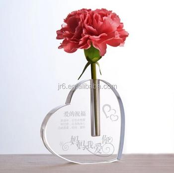 New Design Heart Shape Glass Mini Vasemini Glass Vase Wedding