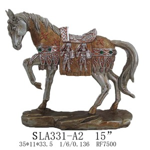Running horse sculpture resin horse home decoration figurine