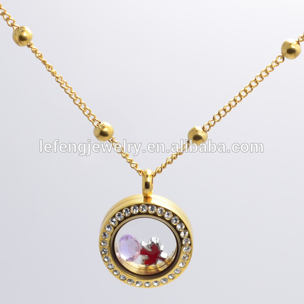 link locket chains gold charms knot rose hello necklace index memory chain china fashional com