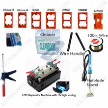 LCD Display Touch Screen Glass Separator Repair Machine Tool Kit with 100m Cutting wire 7 Molds Etc