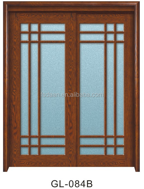 Exterior Sliding Wooden French Doors Solid Wood 4 Panel Interior