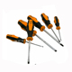 643801High quality Bi-color TPR and PP handle 6pcs 40Cr or crv Point ratchet screwdriver set