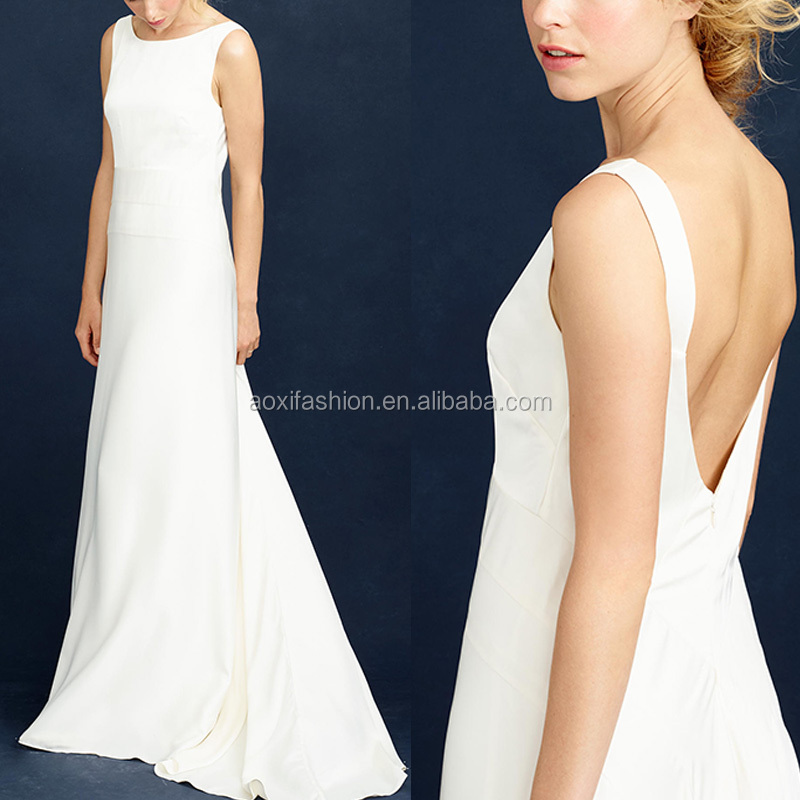 Customer Made Top Quality Backless White Gorgeous Maxi Evening Dress 2016