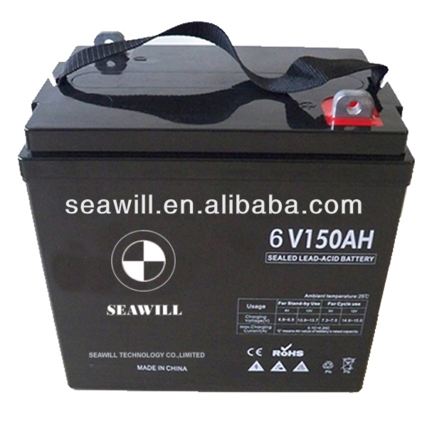 Maintenance free battery deep cycle battery 6v 150Ah
