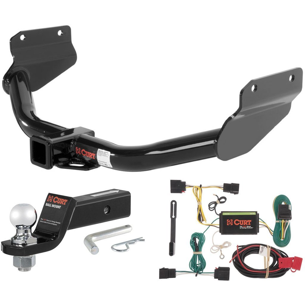 """CURT Class 3 Trailer Hitch Tow Package with 2"""" Ball for 2011-2013 Dodge Durango"""