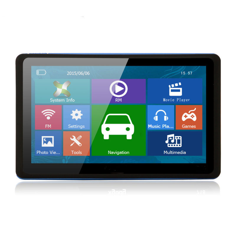 "7"" inch GPS mediatek mt3351 Vehicle navigator with built in 8GB and free newest GPS maps"