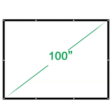 Low Price HD Projection Screen Fabric 100 Inch Diagonal 16:9 Wall Mount Front Projector Screen Suit For Home Cinema Theater