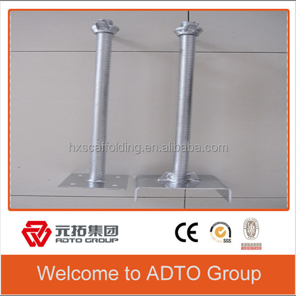 Construction acrow Screw Steel Base Jack and U-head Jack for scaffolding parts