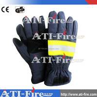 Fire fighters fireman fire safety gloves /protective hand gloves