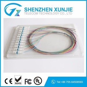 50/125um LC 12 Colors Fiber Optic Pigtail Corning Fiber Cable 12 strands LC/UPC Fiber Optic Pigtail