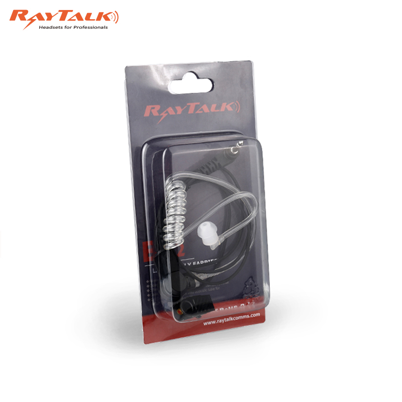 Throat Microphone for two way radio heavy duty design with clear tube earpiece tactical headphones