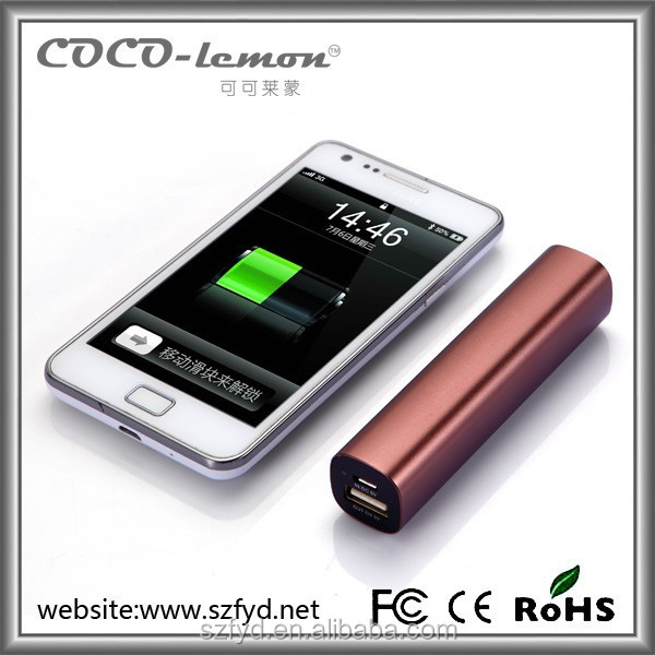 Slim design 2200mAh lipstick battery charger for most of the smartphones