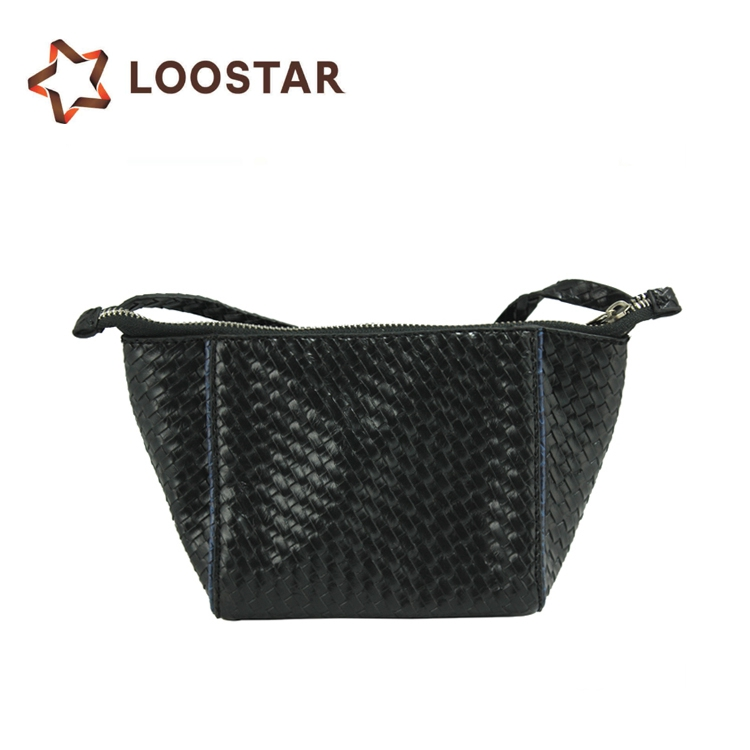 Black Ladies Woven Braiding Bag Leather Weave Bag - Buy Woven ... 2f755611a2907