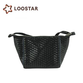 Black Ladies Woven Braiding Bag Leather Weave Bag - Buy Woven ... 7e7837f3cf34a