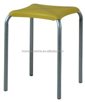 HS-YZ0228A Square plastic seat cheap metal stackable stools
