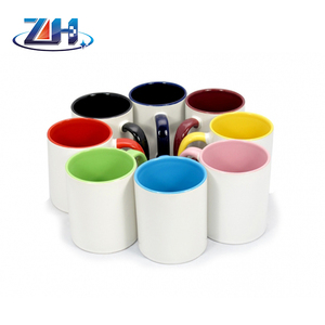 Hot 11oz sublimation border color mug photo cups printing edge color choose