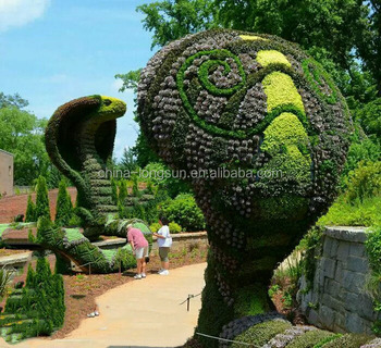 LSD-1216470 Faux grass topiary/artificial plant/handmade animal topiary/artificial snake