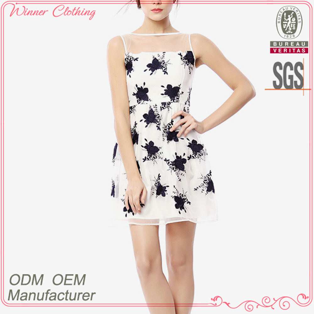 The Newest Fashion Party Elegant Designs Sexy Flower Print 15 Year Old Dresses