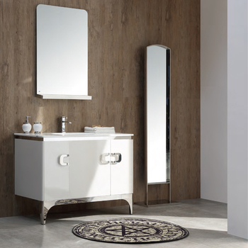 Chinese Bathroom Cabinet Vanity With Dressing Mirror