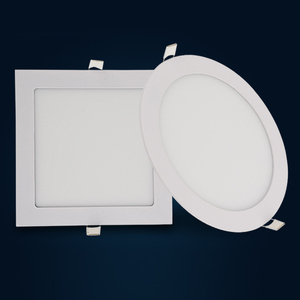 Gypsum ceiling lighting ,3W 5W 7W 9W 12W 15W 18W aluminum recessed round ultra thin slim led light panel