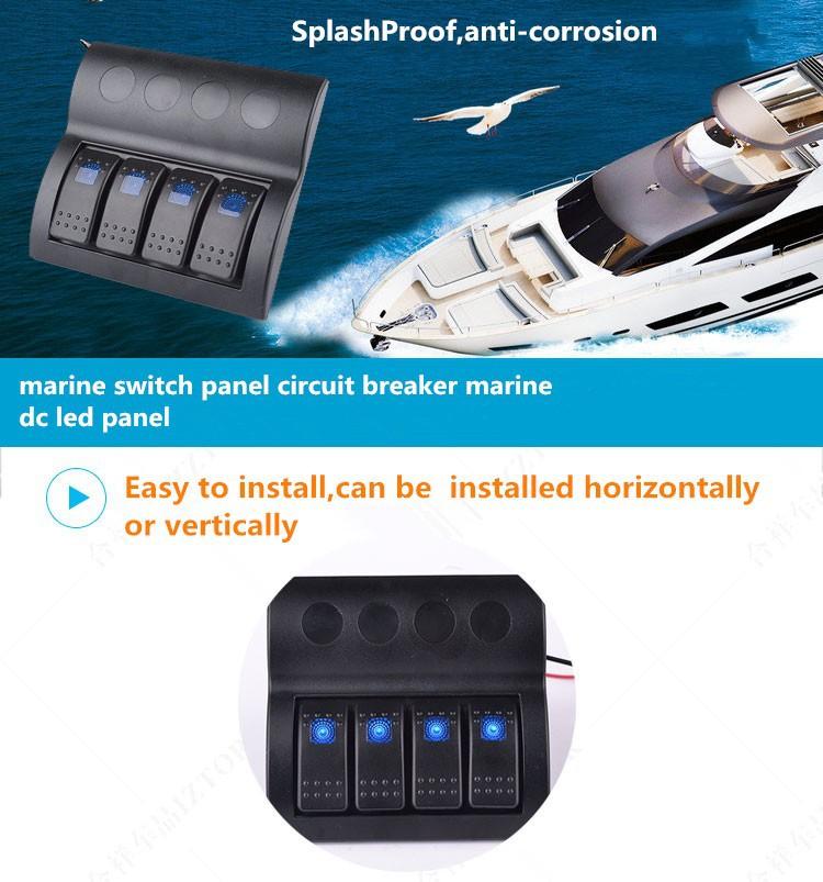 Marine waterproof switch panel,Yacht modification switch,Car modification  switch|Marine ship switch