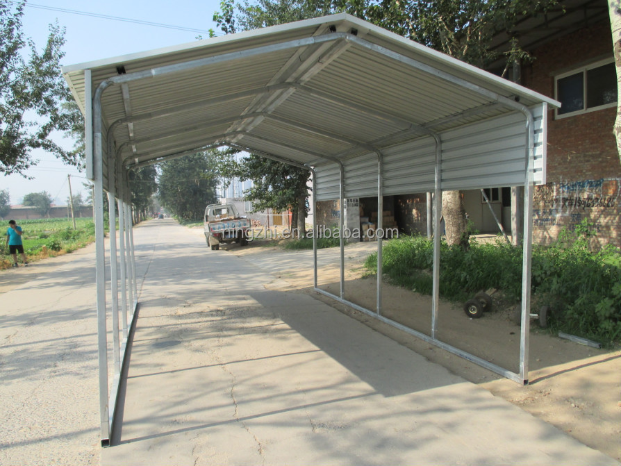 11 x 20 x 9 metal vertical carport diy perfect one car for Single garage with carport